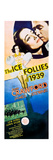 THE ICE FOLLIES OF 1939, top l-r: Joan Crawford, James Stewart on insert poster, 1939. Prints