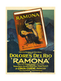 RAMONA, center, top: Warner Baxter; center, bottom: Dolores Del Rio, 1928. Posters