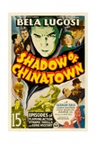 SHADOW OF CHINATOWN, top center: Bela Lugosi, 1936. Art