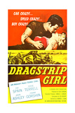 DRAGSTRIP GIRL, John Ashley, Fay Spain, 1957 Posters