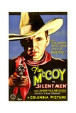 SILENT MEN, Tim McCoy, 1933. Poster