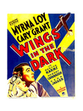 WINGS IN THE DARK, bottom from left: Myrna Loy, Cary Grant on window card, 1935 Prints