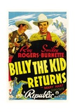 BILLY THE KID RETURNS, Smiley Burnette, Roy Rogers, 1938 Plakat