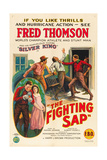 THE FIGHTING SAP, top right and inset left: Fred Thomson, 1924. Print