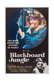 BLACKBOARD JUNGLE, Margaret Hayes, Anne Francis, Glenn Ford, 1955 Poster