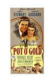 POT O'GOLD, top from left: James Stewart, Paulette Goddard, bottom right: Charles Winninger, 1941. Posters