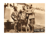 THE FLYING ACE, left: Kathryn Boyd, far right: Lawrence Griner on lobbycard, 1926 Prints