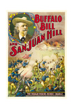 BUFFALO BILL AND SAN JUAN HILL, top left: Buffalo Bill on poster art, 1902. Posters