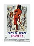 AMARCORD, German poster, 1973 Kunst