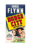 DODGE CITY, from left: Olivia de Havilland, Errol Flynn, Ann Sheridan, 1939. Prints