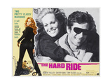 THE HARD RIDE,  (from left of large inset): Sherry Bain, Robert Fuller, 1971. Posters