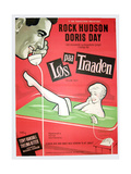 PILLOW TALK, (aka LOS PAA TRAADEN), Danish poster, Rock Hudson, Doris Day, 1959 Art