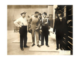CHASE ME CHARLIE, second from right: Charlie Chaplin on lobbycard, 1918. Poster