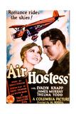 AIR HOSTESS, US poster art, from left: Evalyn Knapp, James Murray, 1933 Prints