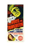 The House of Frankenstein, Boris Karloff, Anne Gwynne, 1944 Posters
