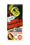THE HOUSE OF FRANKENSTEIN, from top: Boris Karloff, bottom: Anne Gwynne, 1944. Posters