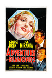 ADVENTURE IN DIAMONDS, US poster, from top: Isa Miranda, George Brent, John Loder, 1940 Art