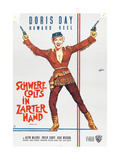 CALAMITY JANE (aka SCHWERE COLTS IN ZARTER HAND), German poster, Doris Day, 1953 Print