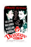 DEVOTION, from left: Ida Lupino, Olivia De Havilland, Paul Henreid, Sydney Greenstreet, 1946 Posters