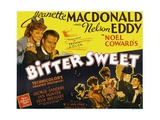 BITTER SWEET, top left from left: Jeanette MacDonald, Nelson Eddy, 1940 Posters