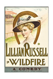 WILDFIRE, Lillian Russell on poster art, 1915. Art