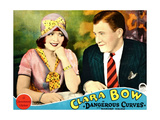 DANGEROUS CURVES, from left: Clara Bow, Richard Arlen on lobbycard, 1929. Poster