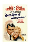 ONCE UPON A HONEYMOON, from left: Cary Grant, Ginger Rogers, 1942. Posters