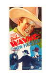 THE NEW FRONTIER, John Wayne, movie poster art, 1935. Prints