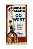 GO WEST, Buster Keaton, 1925. Art