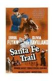SANTA FE TRAIL, Errol Flynn, (poster), 1940 Art