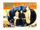 THE CIRCUS, l-r: Merna Kennedy, Charlie Chaplin, Henry Bergman on lobbycard, 1928 Print
