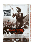 Gimme Shelter, French poster, Mick Jagger, 1970 Art