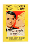 THAT TOUCH OF MINK, l-r: Cary Grant, Doris Day on US poster art, 1962. Posters