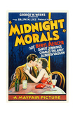 MIDNIGHT MORALS, l-r: Charles Delaney, Alberta Vaughn on poster art, 1932. Posters