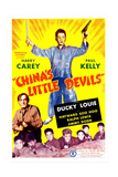 CHINA'S LITTLE DEVILS, US poster, from left: Harry Carey (bottom left), Ducky Louie (center), 1945 Prints