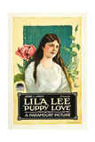 PUPPY LOVE, Lila Lee on poster art, 1919. Poster