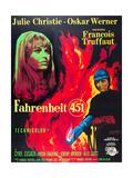 FAHRENHEIT 451, Julie Christie, Oskar Werner, 1966 Posters