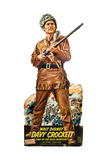 DAVY CROCKETT, KING OF THE WILD FRONTIER, Fess Parker on standee promotional poster, 1954. Plakater