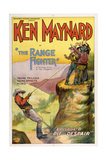 THE RANGE FIGHTER, left: Ken Maynard in 'Episode 8: The Pit of Despair', 1926. Print