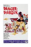 DANGER: DIABOLIK, John Phillip Law, 1968 Plakater