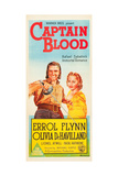 CAPTAIN BLOOD, l-r: Errol Flynn, Olivia DeHavilland on Australian poster art, 1935 Posters