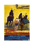 A MAN CALLED HORSE, (aka UN UOMO CHIAMATO CAVALLO), Italian poster, center: Richard Harris, 1970 Prints