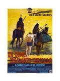 A MAN CALLED HORSE, (aka UN UOMO CHIAMATO CAVALLO), Italian poster, center: Richard Harris, 1970 Prints