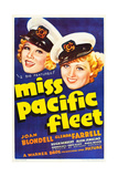 MISS PACIFIC FLEET, US poster art, from left: Glenda Farrell, Joan Blondell, 1935 Posters