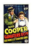 GANGSTER'S BOY, US poster art, foreground from left: Robert Warwick, Jackie Cooper, 1938 Poster