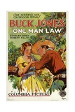 ONE MAN LAW, from left: Shirley Grey, Buck Jones, 1932. Poster