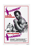 HAMMER, US poster, Fred Williamson, 1972. Poster