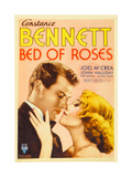 BED OF ROSES, from left: Joel McCrea, Constance Bennett on midget window card, 1933. Prints