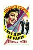 I MET HIM IN PARIS, Claudette Colbert, Melvyn Douglas, Robert Young, 1937 Posters