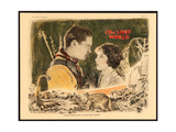 THE LOST WORLD, l-r: Lloyd Hughes, Bessie Love on lobbycard, 1925. Art